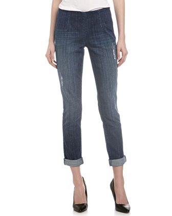 Distressed Denim Skinny Jeans, IFF