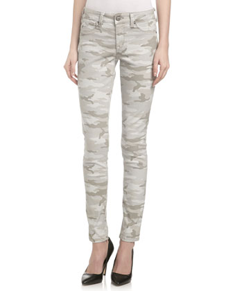 Camouflage-Print Skinny Jeans