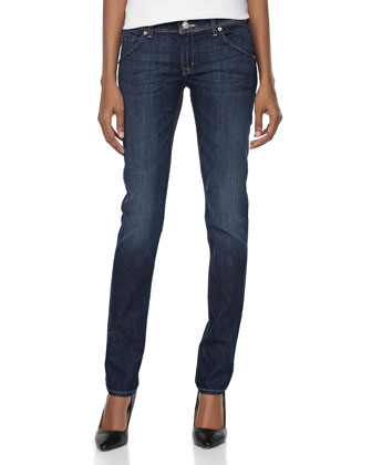 Hudson Skinny Stretch Jeans, Pismo
