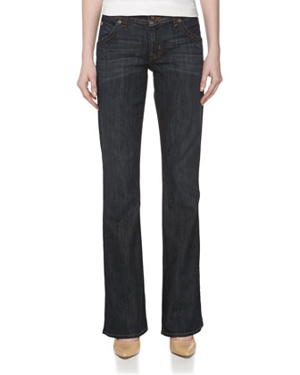Midrise Signature Boot-Cut Jeans, Dresden