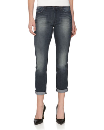 Ankle Roll Cropped Boyfriend Jeans, Harvest