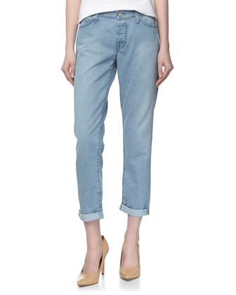 Josefina Skinny Boyfriend Cuffed Jeans, Light