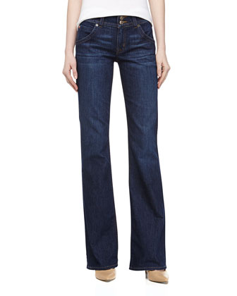 Midrise Signature Boot Cut Jeans, Barcelona
