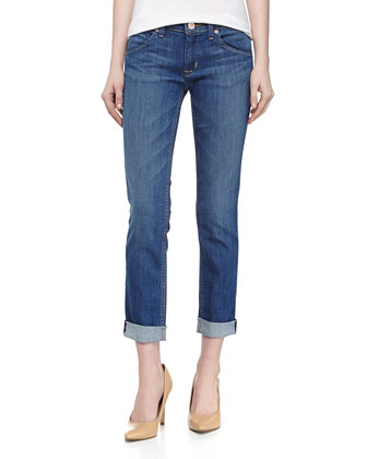 Bacara Cuffed Straight Leg Jeans, Montecito