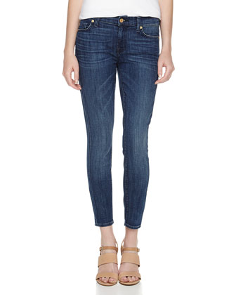 Gwenevere Cropped Ankle Jeans, Toluca Bright Blue