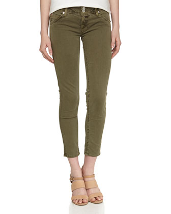 Collin Cropped Jeans, Olive