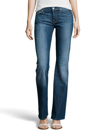 Boot-Cut Five-Pocket Jeans, Rich Authentic Indigo
