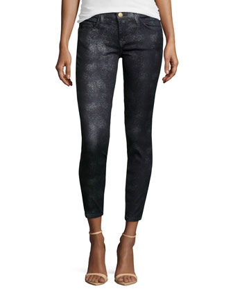 Slim-Fit Stretch Jeans, Silver Foil