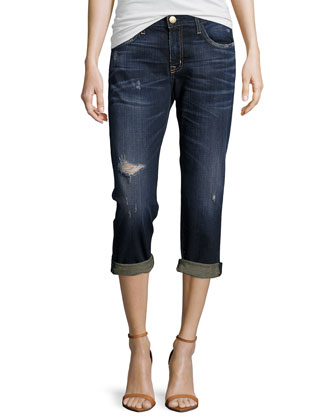 Boyfriend Whiskered Rolled Jeans, Sidecar Destroy