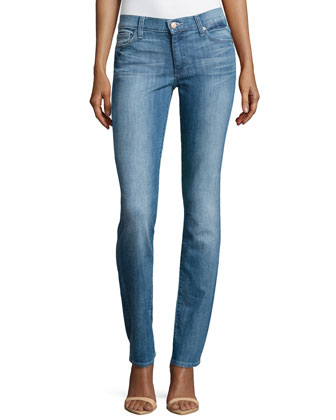 Straight-Leg Jeans, Bright Sky Blue