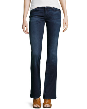 Roxanne A-Pocket Boot-Cut Jeans, Corwin Medium Blue