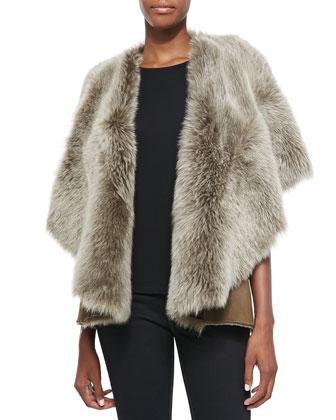 Suede/Shearling Fur Vest