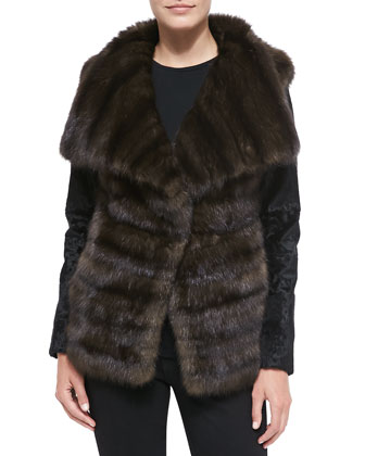 Sable/Lamb Fur Jacket