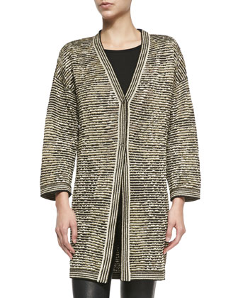 Metallic Space-Dye Slub Coat