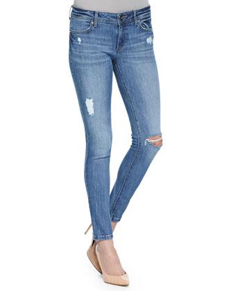 Emma Distressed Ankle Legging Jeans, Remington