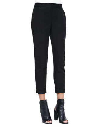 Twill Cuffed Relaxed Pants