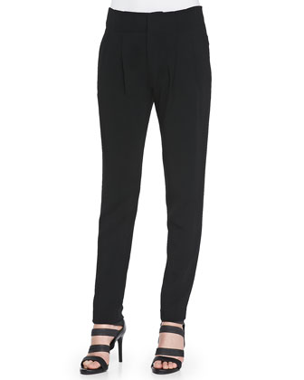 Kinnsley Pleated Pants with Slim Legs