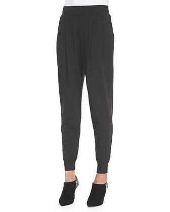 Cozy Slouchy Ankle Pants, Charcoal