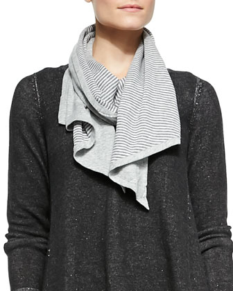 Organic Cotton Cozy Double-Knit Parallelogram Scarf