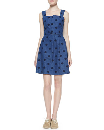 Denim Dot Tank Sundress