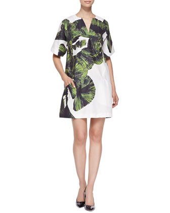 Goby Boxy Leaf-Print Dress