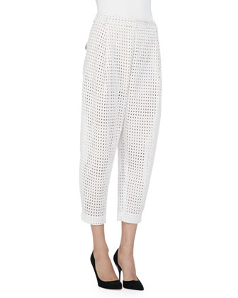 Bleak Cropped Eyelet Pants
