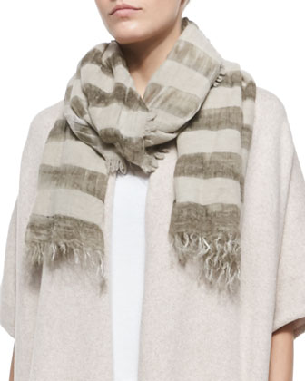 Wool Bands Striped Scarf