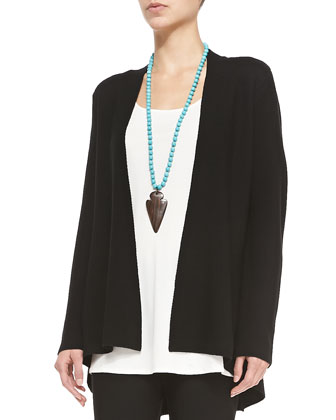 Long Knit High-Low Cardigan, Long Silk Jersey Tunic & Washable ...