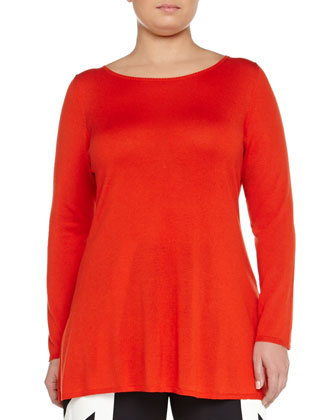 Ascoli Lightweight Silk/Cashmere Tunic, Women's