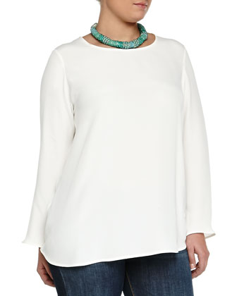 Bastia Long-Sleeve Silk Top, Women's