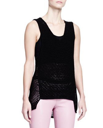 Sleeveless Gauze Tank Top