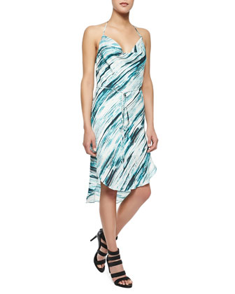 Scarface Printed Tie-Waist Dress
