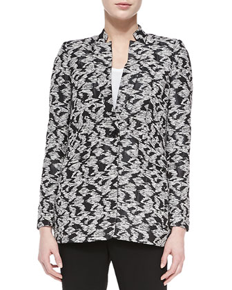 Kamala One-Button Woven Jacket