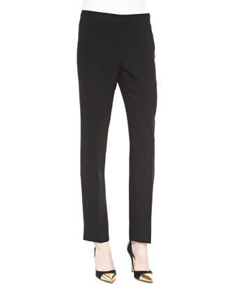 Bleecker Straight-Leg Pants, Black