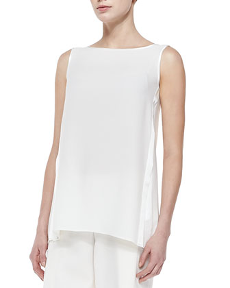 Merryn Sleeveless Silk Blouse