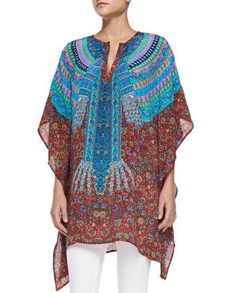 Odelia Printed Caftan Tunic, Women's