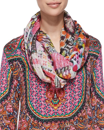 Salina Silk Printed Tunic & Nature Printed Silk Scarf