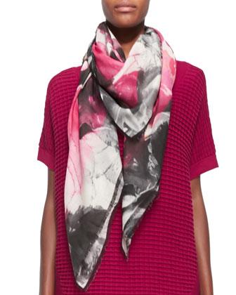 Florabella Printed Silk-Blend Scarf