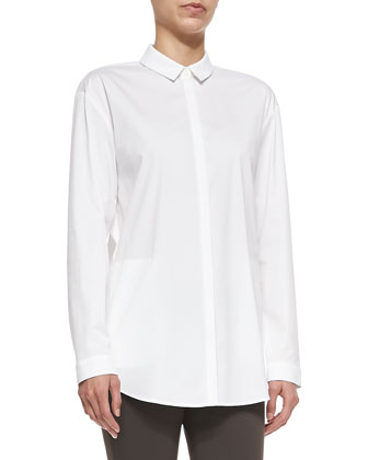 Sabira Cotton-Stretch Long-Sleeve Shirt