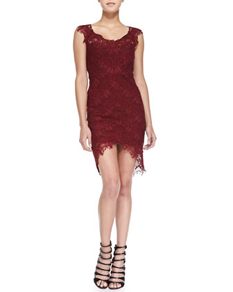 Sleeveless Lace Slip W/ High-Low Hem