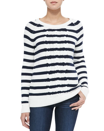 Splendid Striped Knit Pullover Sweater