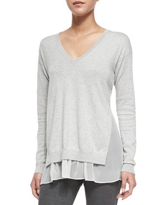 Minrelle Cotton/Cashmere Loose Sweater