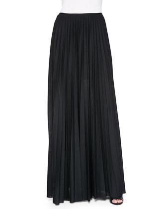 Miklo Pleated Jersey Skirt