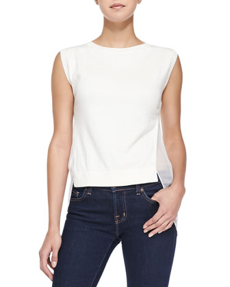 Umalda Knit/Sheer Layered Top