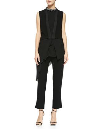 Crepe/Georgette Tuxedo Vest