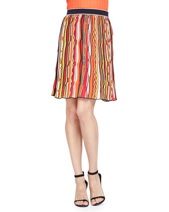 Ripple Ribbon Striped Skirt