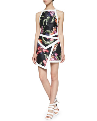 Fire Start Floral Dress W/ Contrast Trim
