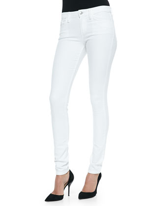 Annie Play Dirty Stay Spotless Mid-Rise Skinny Jeans, Optic White