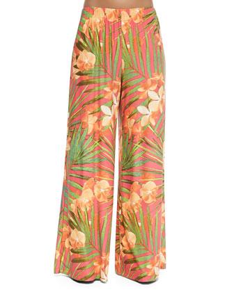 Tropical Fantasy Coverup Pants