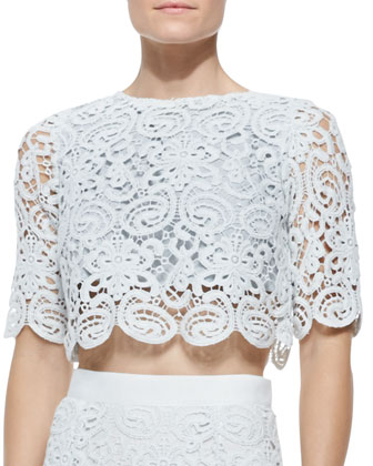 Lou Boxy Crochet Crop Top